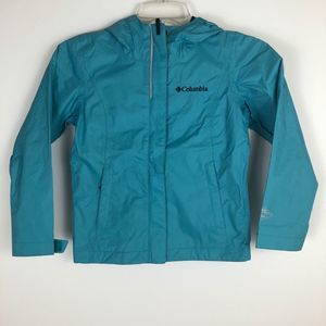 Columbia Girls Rain Jacket XS Teal